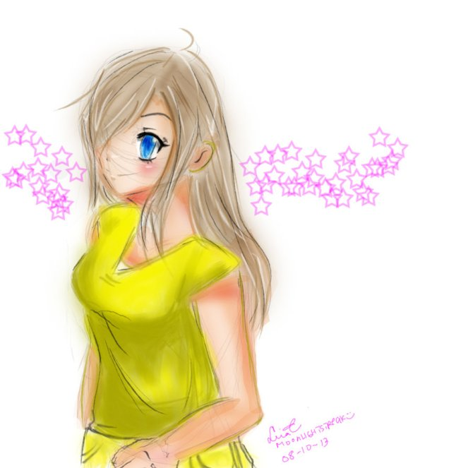 Again. Another request to make a human version of her pony.. haha I was sorta disappointed with how she turned out tho.